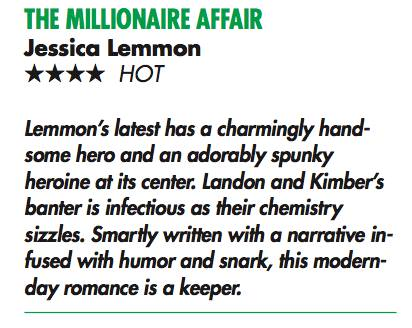 THE MILLIONAIRE AFFAIR  (Love in the Balance #3)  by Jessica Lemmon - Review (2/2)
